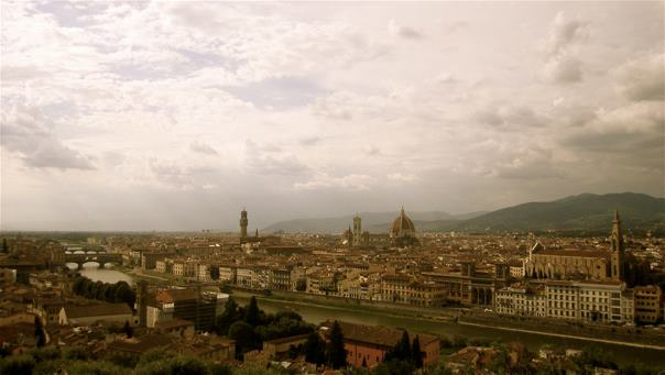 Taking in Florence