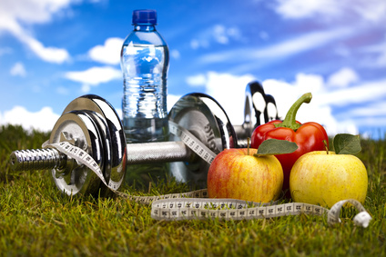 Vitamin and Fitness diet, green grass